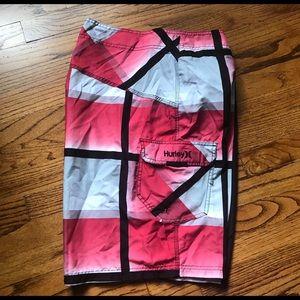 Hurley Swim Trunks Board Shorts Bathing Suit Sz 38
